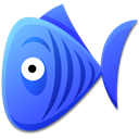 Cartoon, Bluefish RoyalBlue icon