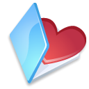 Favorits, Folder, Blue Black icon