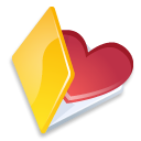 Favorits, yellow, Folder Black icon