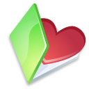 Favorits, green, Folder Black icon