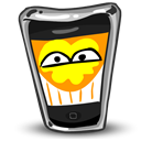 happy, Iphone, funny, Cell phone, mobile phone, Emotion, Fun, smartphone, smile, Emoticon Black icon