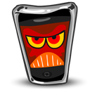 Cell phone, smartphone, mobile phone, Angry, Iphone Black icon