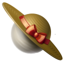 planet, globe, earth, saturn, hat Black icon