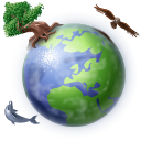 globe, world, earth, planet LightSteelBlue icon