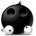 Emotion, Droped, Eyes, Face, Avatar, Emoticon Black icon