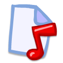 File, document, music, paper AliceBlue icon