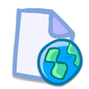 document, File, paper, web AliceBlue icon