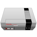 nintendo, gray Black icon