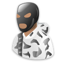 Cartoon, Counter strike, Cs Black icon