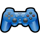 Playstation, sony, Blue, gaming, Game Black icon