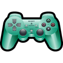 Playstation, Game, sony, green, gaming Black icon