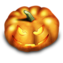 pumpkin, evil, halloween Black icon
