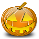 halloween, pumpkin Black icon