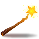 witch, stick Black icon