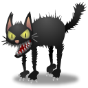 Cat, Animal Black icon