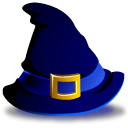 witch, hat Black icon