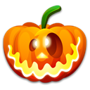 halloween, pumpkin, Crazy Black icon