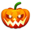 halloween, pumpkin, nervous Black icon