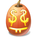 halloween, jack o lantern, pumpkin, Easymoney Black icon