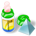 feeding, level, Bottle Black icon