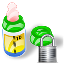 feeding, locked, security, Bottle, Lock Black icon