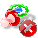 stop, Pacifier, Close, no, cancel Black icon