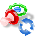 Pacifier, Reload, refresh Black icon