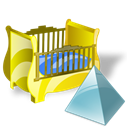 cradle, level Black icon