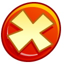 button, Close, no, stop, cancel OrangeRed icon