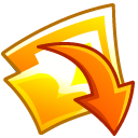 Folder, Downloads Gold icon