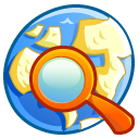 network, search, seek, Find LemonChiffon icon