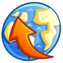 uploads, network CornflowerBlue icon