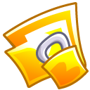 Folder, locked, security, Lock DarkGoldenrod icon
