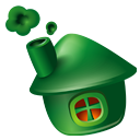 Building, homepage, Community, Home, house DarkGreen icon