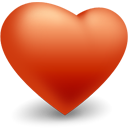 valentine, Heart, love Firebrick icon