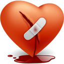 valentine, love, Broken, Heart Firebrick icon