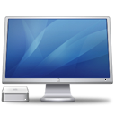 Blue, Computer, monitor, screen, Display, cinema, Macmini SteelBlue icon