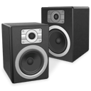 sound, speaker, experience, voice, twin DarkSlateGray icon