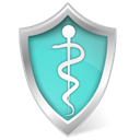 care, Guard, shield, protect, health, security Black icon