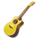 guitar, yellow, instrument Black icon