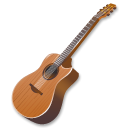 wood, instrument, guitar Black icon
