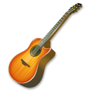 instrument, guitar, fire Black icon