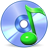 save, disc, Disk, Sh, music CornflowerBlue icon