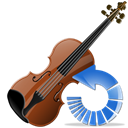 Violin, instrument, refresh, Reload Black icon
