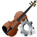 Configure, preference, Violin, option, configuration, Setting, instrument, config Black icon