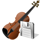 save, Violin, instrument Black icon