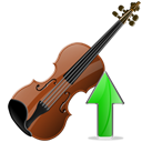 increase, upload, Ascend, Up, violin up, instrument, Violin, rise, Ascending Black icon