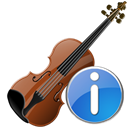 Violin, Information, about, Info, instrument Black icon