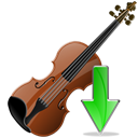 fall, Descend, Violin, download, Decrease, descending, Down, instrument Black icon
