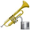 Unlock, Trumpet, instrument Black icon